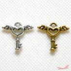 天使の鍵(天国への鍵)ヴィンテージシルバー チャームパーツ
