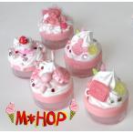 kawaii  ピンクフタベースのクリーム入れ 5種 手作りデコ