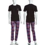ディーゼル DIESEL Tシャツ パンツ セットアップ UMSET-JADE-PIGIAMA メンズ 00CLDF 00AUE ブラック 当店一押