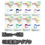 MicroSIM→SIMサイズ変換アダプタ