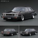 イグニッションモデル 1/43 日産 スカイライン 2000 GT-EL (C210) ブラック ハヤシ ホイール ミニカー IG0319(F6614)