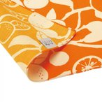 京の両面おもてなし ふろしき 中巾 橙 橙色 だいだいいろ 14-054111 日本の伝統色で染めた「京都メイド」の風呂敷です