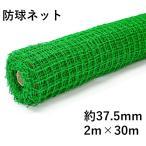 防球ネット ロール 37.5mm角目 2m×30m 緑 ポリ有結バッティングネット 野球 他スポーツ全般 防獣 防鳥 簡易フェンス