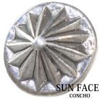 コンチョ 太陽神 サンマーク インディアン シルバー925 ネジ式 レザー 財布 ウォレット