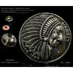 コンチョ インディアン フェイス ネイティブアメリカン シルバー925 メンズ ネジ 財布 ボタン