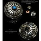 コンチョ オニキス ターコイズ ネイティブアメリカン シルバー925 メンズ ネジ 財布 石 ボタン