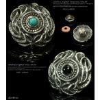 コンチョ アラベスク 透かし彫り シルバー926 メンズ ネジ 財布 ボタン