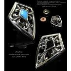 コンチョ シルバー925 スカル 十字架 クロス 髑髏 シルバーアクセサリー 財布 ボタン