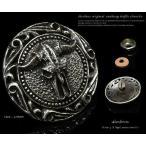 コンチョ シルバー925 バッファロースカル 髑髏 シルバーアクセサリー  ネジ 財布 ボタン