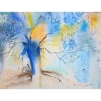 (1/13入荷)絵画 水彩 ブリジット(フランス) 「ヒースの花」 インテリア 玄関