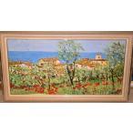 リビングインテリア 油絵 絵画 マルコ 作 イタリア・トスカーナ風景