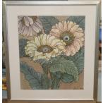 花の絵画 水彩画 加藤世紀 作 「ひまわり」 リビング インテリア
