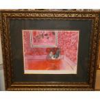 デュフィ バラ色の人生 名画絵画 ジグレ版画 47cm×54cm インテリア