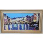 絵画 油絵 アルファーノ(イタリア) 「アマルフィ海岸」 風景画 インテリア
