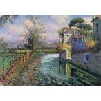 絵画 油絵 エズポジート(イタリア) 「トスカーナ郊外」 イタリア風景 インテリア