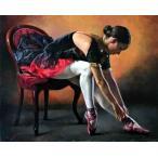 (6/16入荷)絵画 油絵 ストリーノ  スペインのバレリーナ  イタリア人物画 インテリア