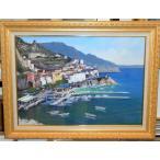 絵画 油絵 イアニチェリ(イタリア) 「アマルフィ」インテリア イタリア風景