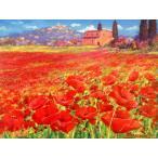 (6/16入荷)絵画 油絵 ベンチーニ(イタリア) 「トスカーナ」 自然風景画 インテリア