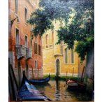 絵画 油絵 東維邦 作 ベネチア 8号 イタリア風景画 贈り物 御祝い
