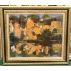 絵画 油絵 マリオ 作 Hill イタリア風景画 抽象