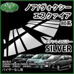 トヨタ ノア ヴォクシー エスクァイア 80系 ZRR80W ZRR85W ステンレスピラー シルバータイプ バイザー無し用 カスタムパーツ カスタマイズ ドレスアップ