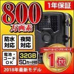 防犯カメラ トレイルカメラ  ACアダプタ付 32GB SDカード付 屋外 防水 監視 暗視 夜間 家庭  事務所 野外 野生動物 獣害 動体検知