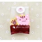 猫 かわいい ラッピング 袋 12枚 シール付き クッキー や お菓子 の入れ物に ギフト プレゼント に大活躍