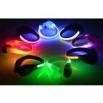 LED シューズ クリップ 靴 夜間 ランニング ライト ナイトラン ジョギング ウォーキング 安全  PK ピンク