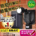 センサーライト LEDライト 自動点灯 1灯 LED ソーラー VS-G004 ブラック 防犯グッズ ガーデニング 省エネ エコ 節電 電源不要 照明 防犯 角度調節