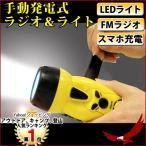 手動発電式、高輝度LED搭載ラジオライト