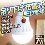 LED電球 USB充電式 吊り下げ式 7W相当 強力 明るい ガーデニング 作業灯 防災グッズ 緊急 災害 アウトドア レジャー キャンプ 屋内 屋外