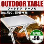 アウトドア テーブル 折りたたみ ステンレス ローテーブル 55cm 軽量 コンパクト レジャーテーブル ステンレステーブル キャンプ ピクニック