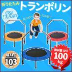 トランポリン 家庭用 手すり付 エクササイズ 簡単組立 折りたたみ コンパクト 安全 静音 ダイエット 全身運動 遊び 大人 おもちゃ 遊具 子供