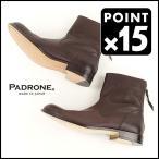 SALE 20%OFF PADRONE(パドローネ)レザーソール バックジップ ブーツ 防水レザー  EDWARDVII 本革 靴
