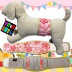 犬服 マナーベルト 花柄 レッドフラワー 吸収体装着部分幅広タイプ(超小型犬から中型犬用)メール便なら送料無料 マナーバンド マナーパンツ ドッグウェア