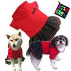 犬服 PUWAN フリースパーカー 裏起毛デニムワンピース(大型犬用)犬の服2点購入でメール便送料無料 スカート ゴールデンレトリバー ラブラドールレトリバー