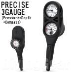 AQUA LUNG(アクアラング) PRECISE 3 GAUGE プレシス3ゲージ(残圧計+水深計+コンパス)