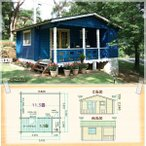 コテージ(貸別荘)や仮設住宅にお奨めログハウス。トイレやユニットバスを設置して。セルフビルドミニログハウスキット《網戸付き》【BL-M5T】画像
