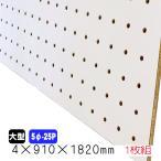 有孔ボード 穴あきベニヤ 白(4mm 5φ-25P)910mm×1830mm(A品)/1枚組/2枚以上は更に値引の画像