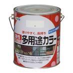 アサヒペン 油性多用途カラー 白 1.6L