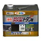 アサヒペン シリコンアクリルトタン用油性塗料 新茶 7L
