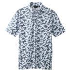 アイトス ボタンダウンアロハ柄半袖ポロシャツ(男女兼用) 004グレー M AZ-56111-004 1枚