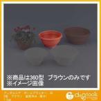 アップルウェアー アンダルシア ボールプランター 植木鉢  360型 土容量6.0L ブラウン 360Φx175mm
