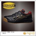 ディアドラ ROBIN マジックテープ式安全靴 ブラック&ゴールド 25.0cm RB-22