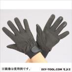 革手袋 合成皮革・指先すべり止付  黒 M  EA353BJ-76