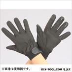 革手袋 合成皮革・指先すべり止付  黒 L  EA353BJ-77