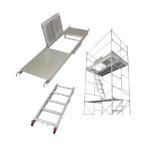 長谷川工業 ローリングタワー用 アルミ製開閉足場板 (15676)   HYA-518(セット)
