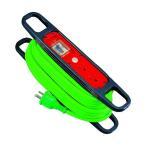 日動 ハンドリール100V3芯×10m緑アース過負荷漏電しゃ断器付 HR-EK102-G ハンドリール(ブレーカー付) C10064C20385C30
