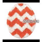 オカトー トイレフタカバーZIGUZAGU オレンジ 236121