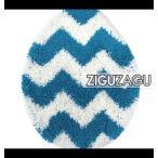 オカトー トイレフタカバーZIGUZAGU ブルー 236122